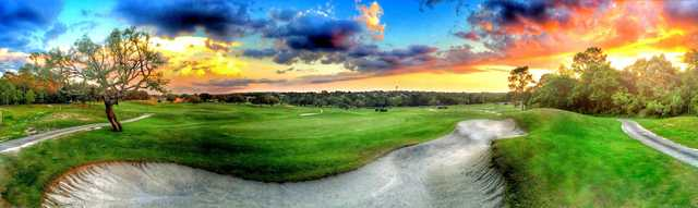 A view from Twisted Oaks Golf Club