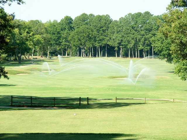 A view of a fairway at Ole Miss Golf Course.