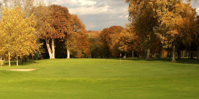 A sunny warm day view of a hole at Coudray Golf Club.