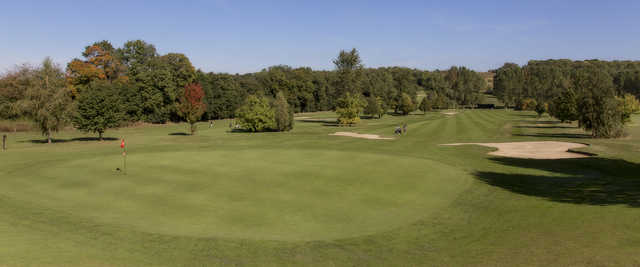 Looking back from a green at Gadancourt Golf Club