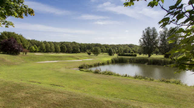 View of a green at Metz-Technopole Golf Club.