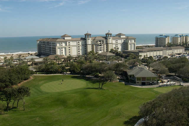 A view of the clubhouse at Golf Club of Amelia Island at Summer Beach