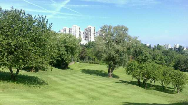 A morning day view from a fairway at Rosny sous Bois Golf Course.