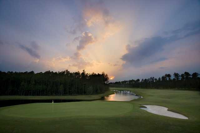 A view of green #11 at Amelia National Golf & Country Club
