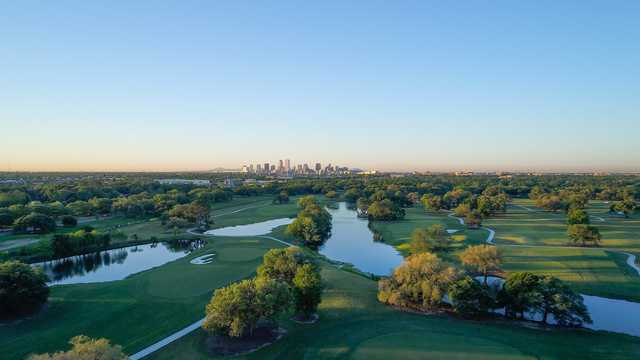 Aerial view from the South Course at Bayou Oaks City Park