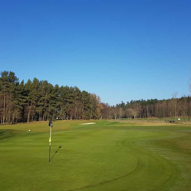 A view from a green at Inchmarlo Golf Centre