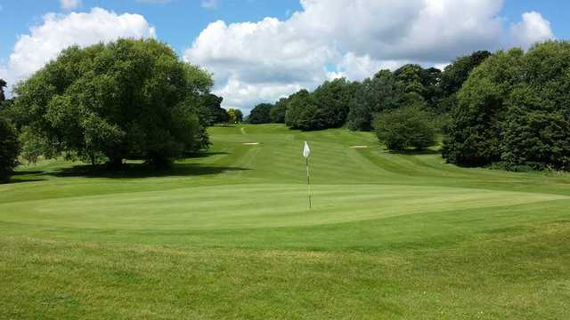 Looking back from the 17th green at Cobtree Manor Park Golf Course