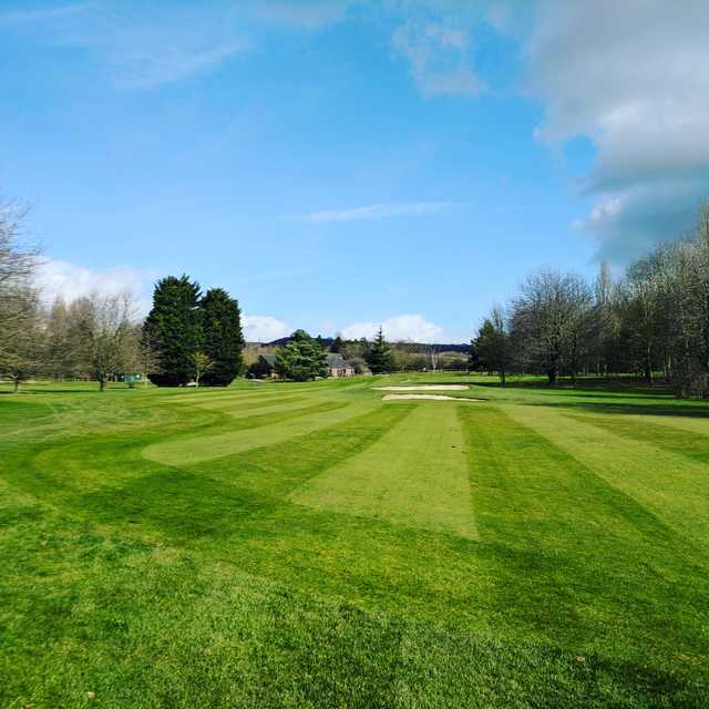 View from a fairway at Cobtree Manor Park Golf Course