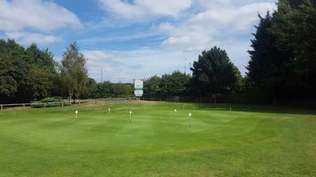 A view of the practice area at Cobtree Manor Park Golf Course