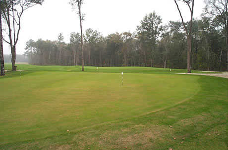 A view of the practice putting green at Fleming Island Plantation Golf Club