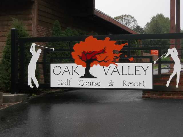 Oak Valley Golf Course & Resort's entrance