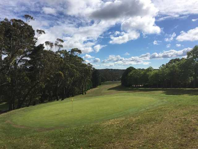 Looking back from the 1st green at Leura Golf Club