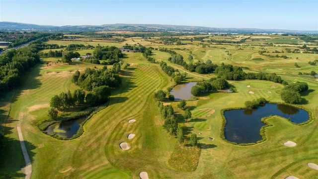 Aerial view from Pike Fold Golf Club