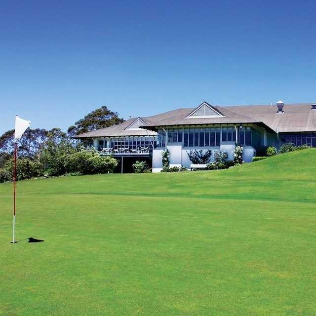 A view from a green at Leura Golf Club