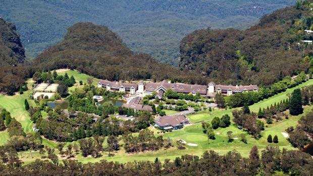 Aerial view from Leura Golf Club