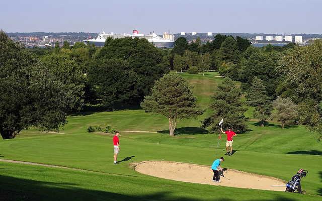 A view from Dibden Golf Centre