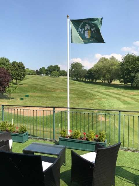 View of the 18th green at Bedford & County Golf Club
