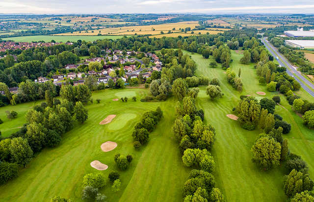 Aerial view from Windmill Hill Golf Club