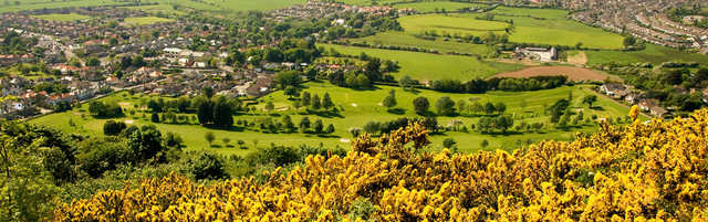 Aerial view from St. Melyd Golf Club