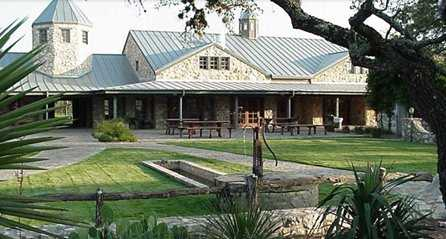 A view of the clubhouse at Canyon Springs Golf Club