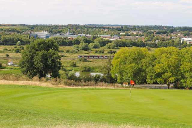 A view of a hole at Chadwell Springs Family Golf Centre.