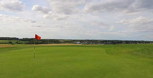 A view of a green at Chadwell Springs Family Golf Centre.