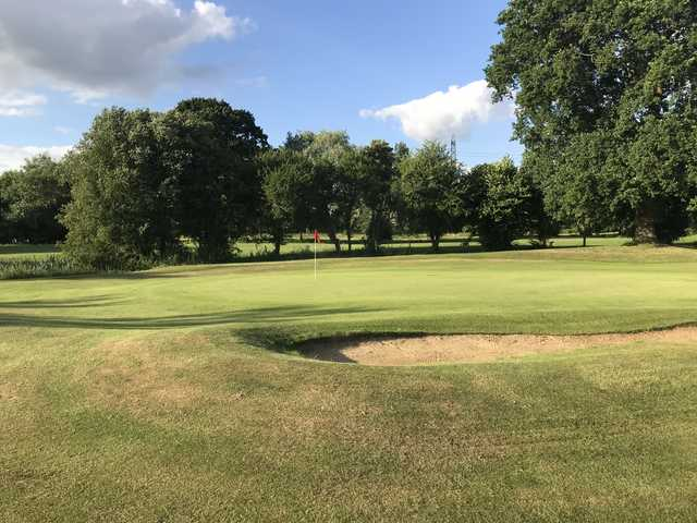 View from a green at Theale Golf Club