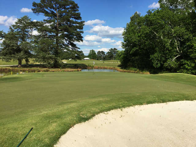 A view of the 10th hole at Mississippi State University Golf Club.
