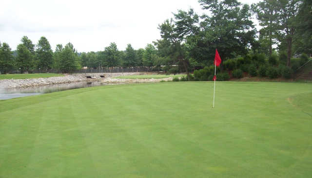 View from the 8th green at Lakeside Village Golf & Athletic Club
