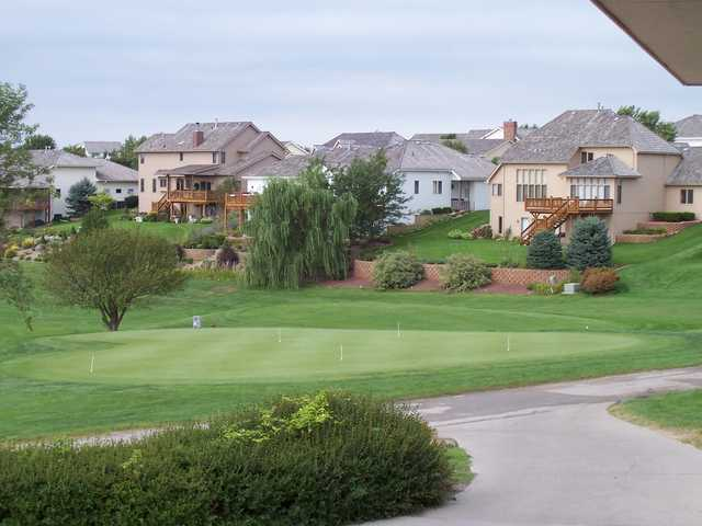 A view of the practice area at Tara Hills Golf Course