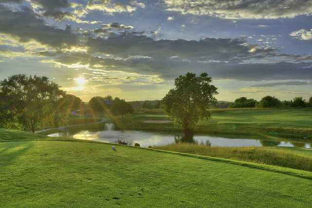 A sunny day view from Boone's Trace National Golf Club.
