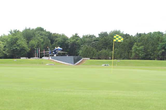 A view of a green at Smyrna Golf Course.