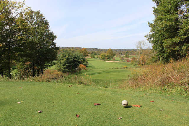 A view from a tee at Elks Run Golf Club.