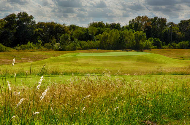 A view of the 8th hole at Meadowbrook Farms Golf Club.