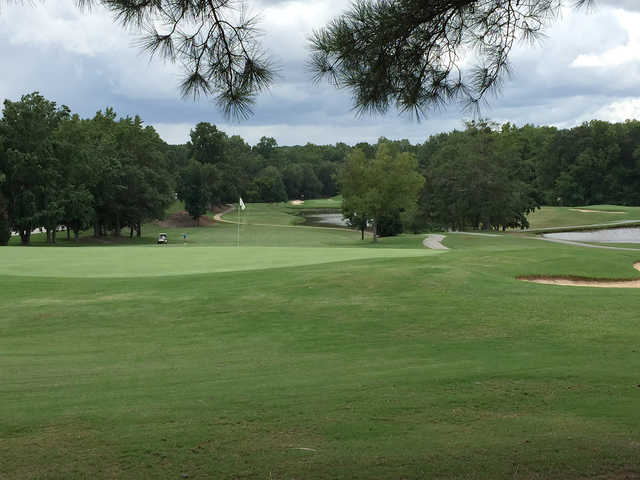 A view of green #3 at Holly Tree Country Club.