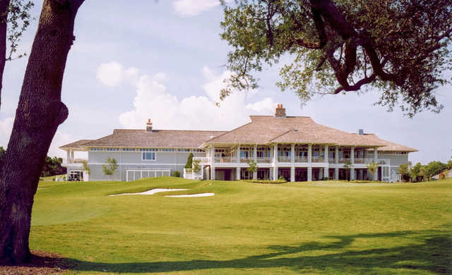 A view of the clubhouse at Eagle Point Golf Club.
