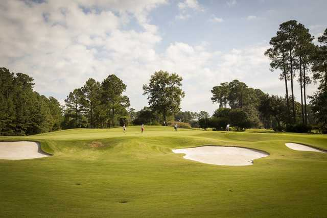 A view of a green at South Course from Berkeley Hall Golf Club.