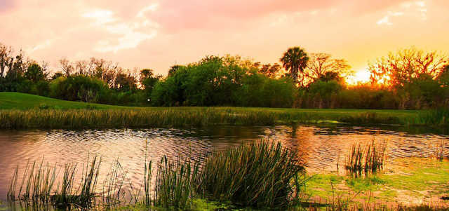 A sunset view from River Strand Golf and Country Club.