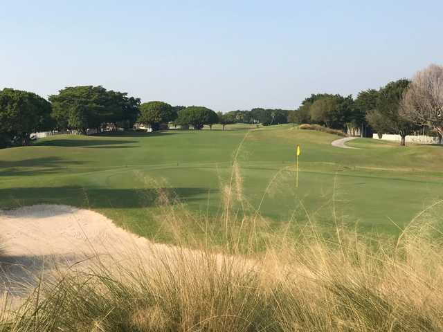 View of a green at Winston Trails Golf Club