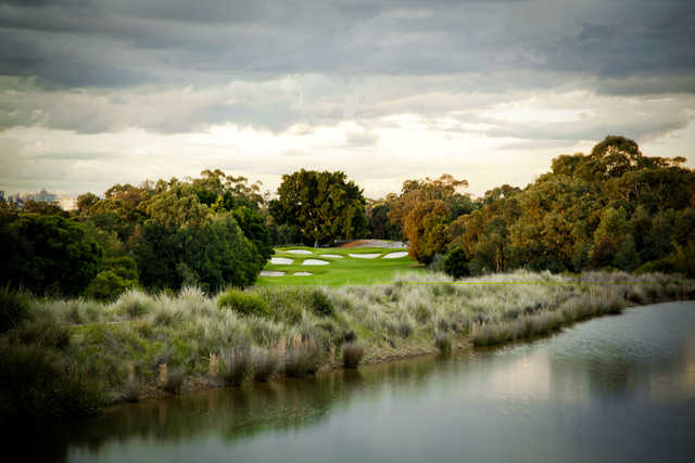 View of a green at Concord Golf Club