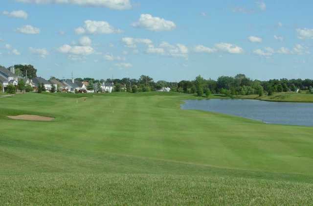 A view of fairway #2 at Winghaven Country Club.