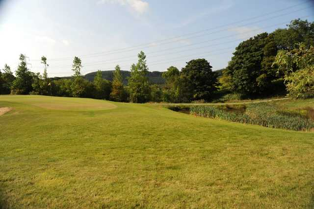 A view of a hole at Maesteg Golf Club.