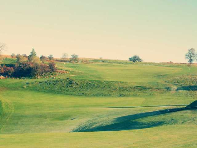 A view of a fairway at Morlais Castle Golf Club.