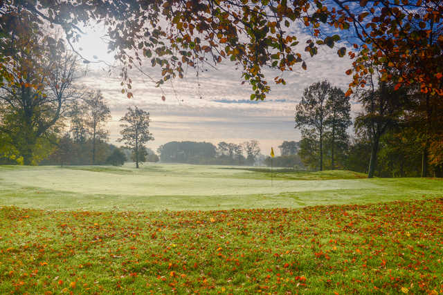Fall view of the 9th green at Galgorm Castle Golf Club