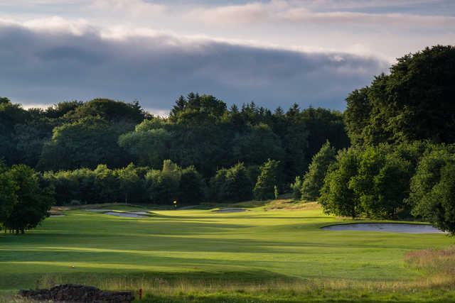 View of the 18th gree from the tees at Galgorm Castle Golf Club