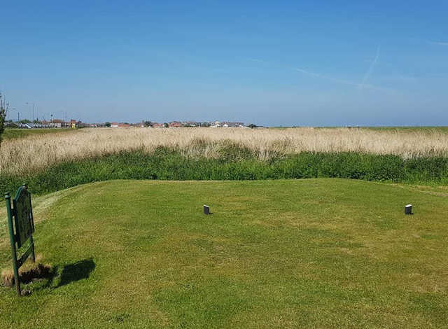 A view from a tee at Rhyl Golf Club.