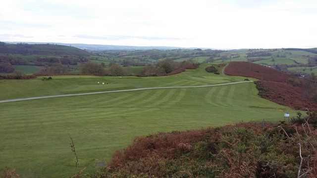 A view of the 5th tee at Welshpool Golf Club.