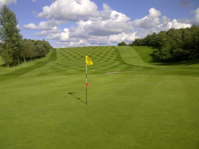 A view of a hole at Bathgate Golf Club.