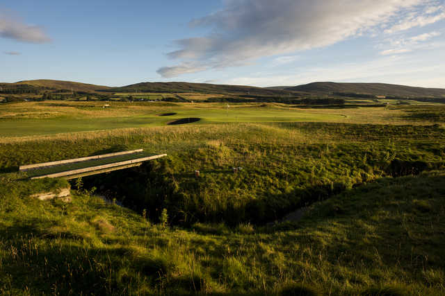 A view of the 7th hole at Brora Golf Club.