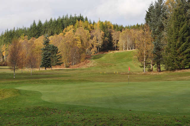 A view of the 7th hole at Comrie Golf Club.